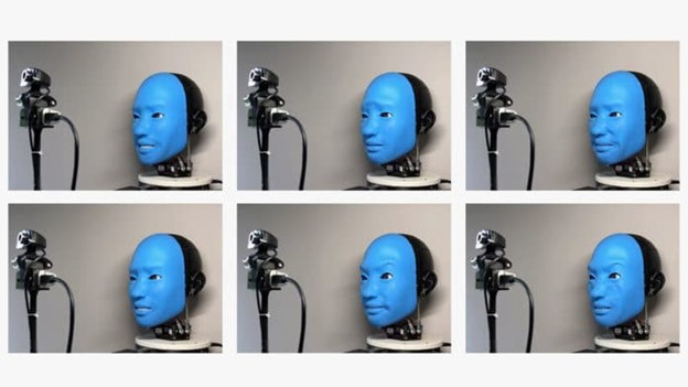 Robot that responds to human facial expressions